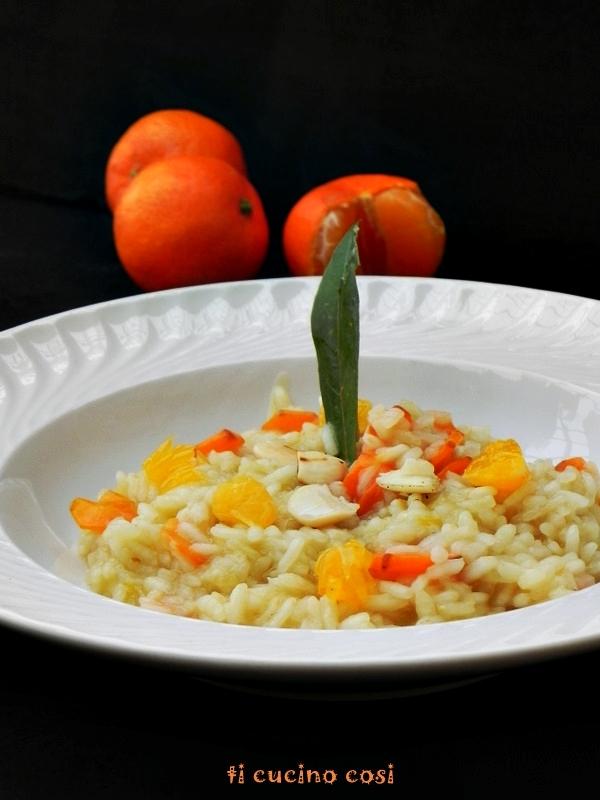 Risotto mandarini, mandorle e carote