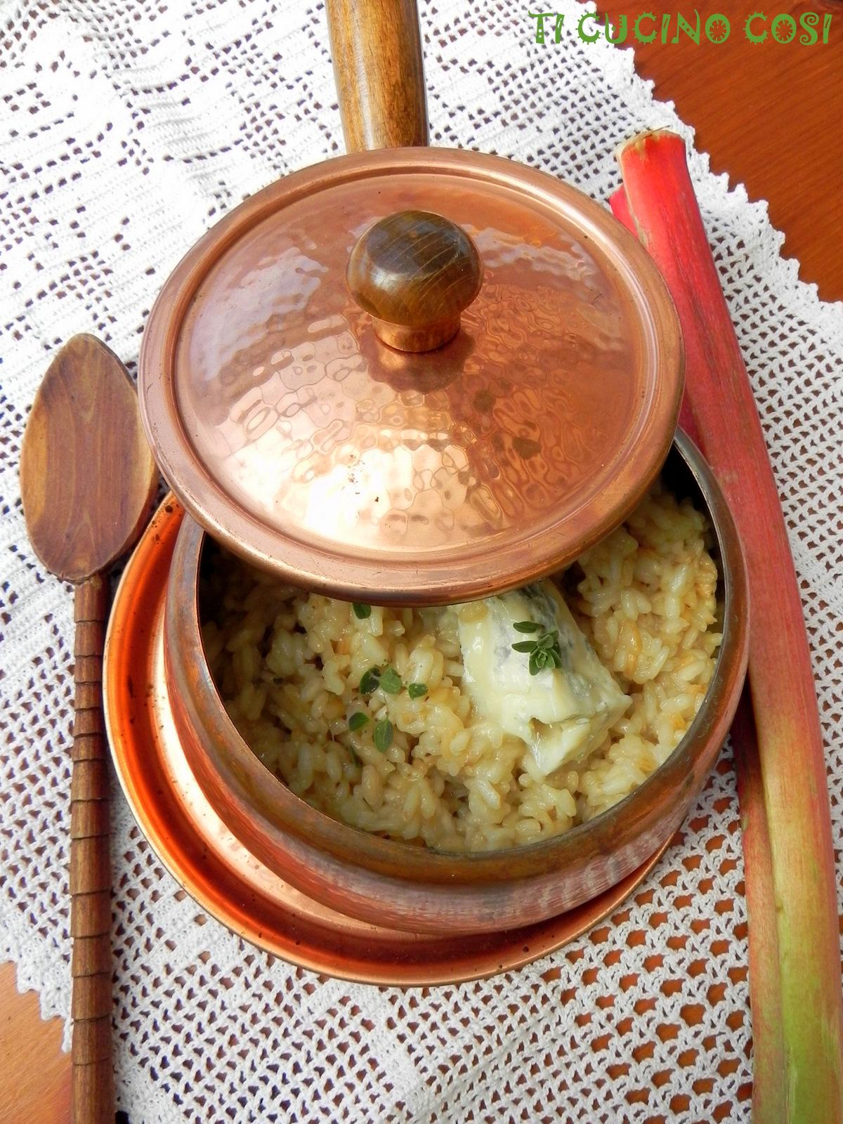 Receta de risotto de ruibarbo y gorgonzola