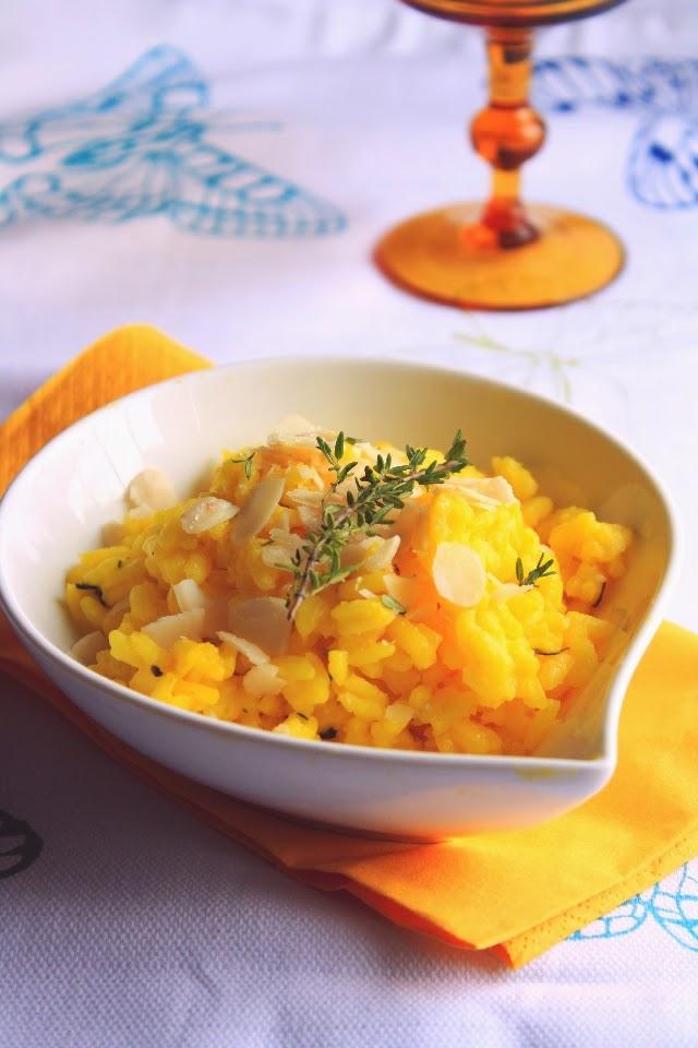 risotto-giallo-timo-e-mandorle