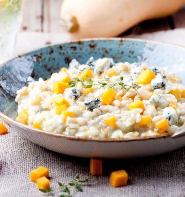 risotto-de-calabaza-con-crema-de-queso-azul